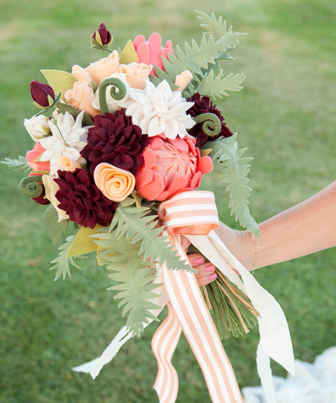 Felt Flower Wedding Bouquet #2 .SVG Pattern Collection – Something ...
