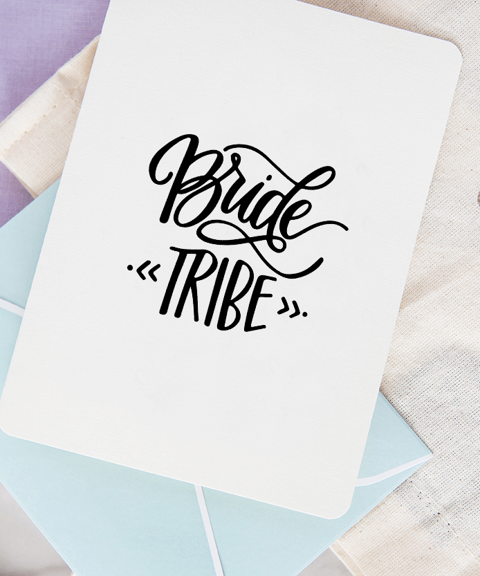 To the Bride from your tribe A6 Wedding card